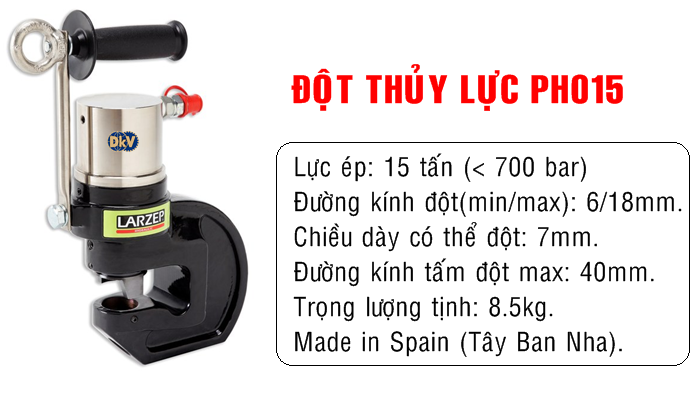 dot lo thuy luc, hydraulic punching,, ph015, larzep