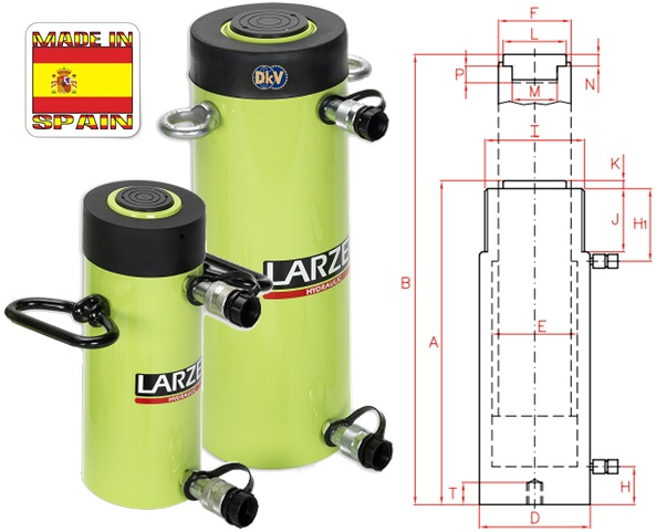 kich thuy luc Larzep D03032, Larzep double acting hydraulic cylinder D03032