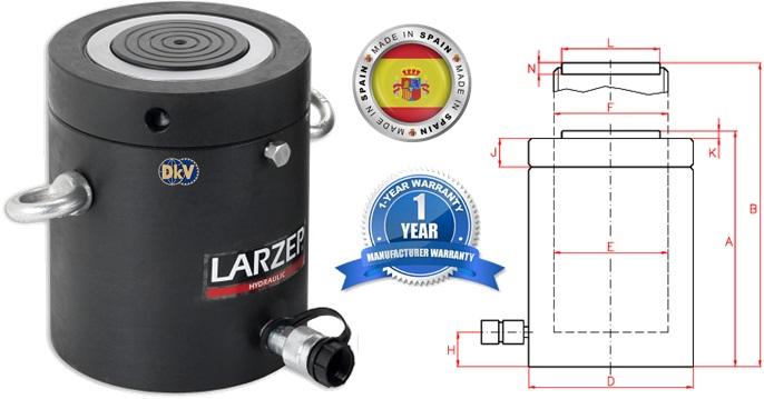kich thuy luc vong ham, str14005, larzep, lock nut hydraulic cylinder