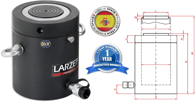 kich thuy luc vong ham 140 tan, str14030, larzep, lock nut hydraulic cylinder